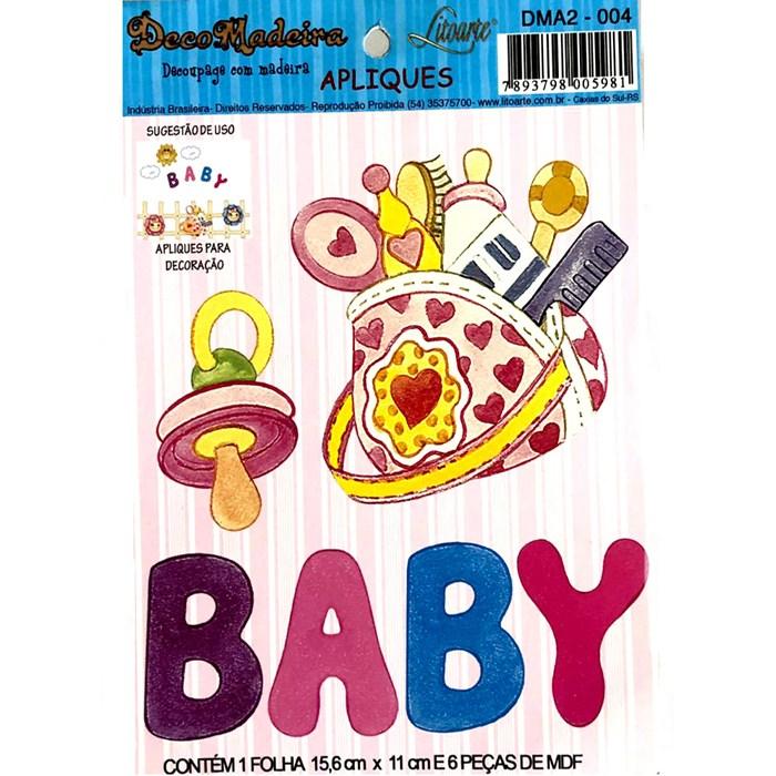 Deco Madeira Apliques Litoarte DMA2-004 Baby