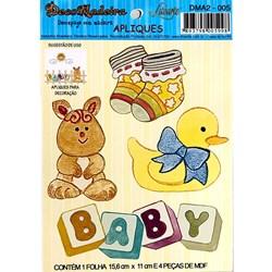 Deco Madeira Apliques Litoarte DMA2-005 Baby