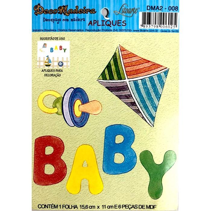 Deco Madeira Apliques Litoarte DMA2-008 Baby