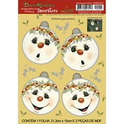 Deco Madeira Decorativo Natal Litoarte DMDN-002 Bola de Natal