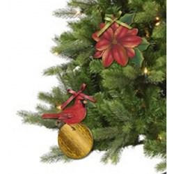 Deco Madeira Decorativo Natal Litoarte DMDN-012 Cardeal Natalino