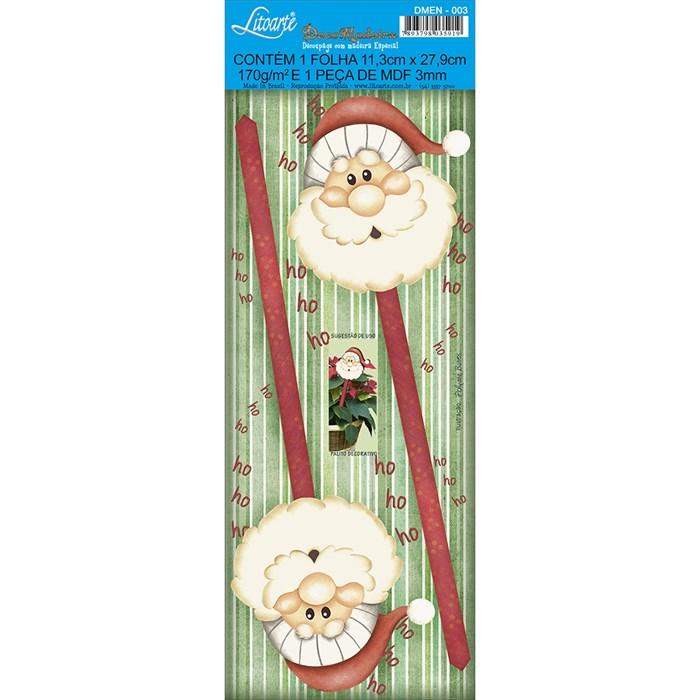 Deco Madeira Especial Natal Litoarte DMEN-003 Papai Noel