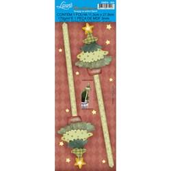 Deco Madeira Especial Natal Litoarte DMEN-004 Árvore de Natal