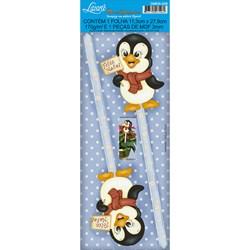 Deco Madeira Especial Natal Litoarte DMEN-008 Pinguim