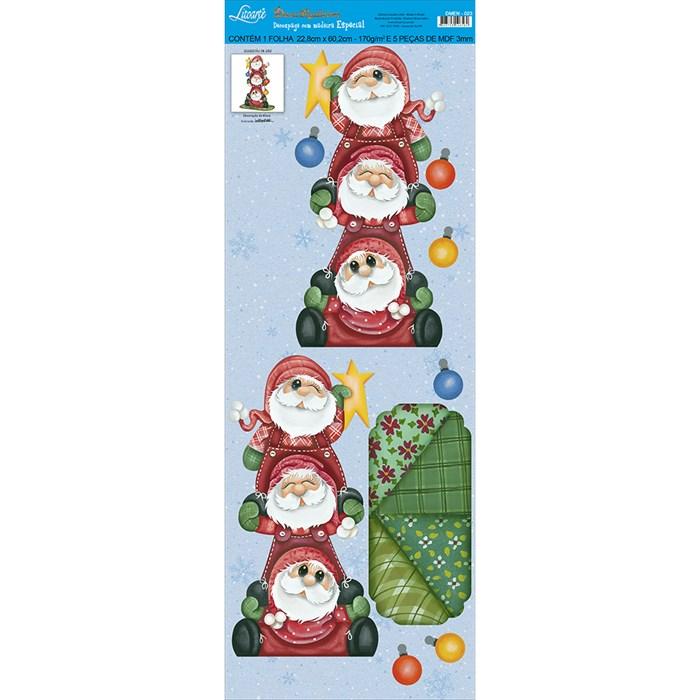 Deco Madeira Especial Natal Litoarte DMEN-023 Noel