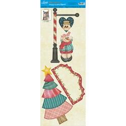 Deco Madeira Especial Natal Litoarte DMEN-027 Boneco de Neve