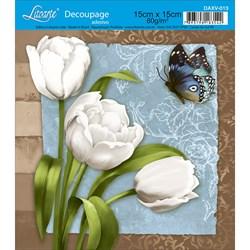 Decoupage Adesivo Litoarte DAXV-013 Tulipa Branca