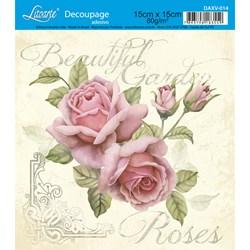 Decoupage Adesivo Litoarte DAXV-014 Beautiful Garden Roses