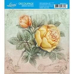 Decoupage Adesivo Litoarte DAXV-017 Love Rose