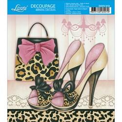 Decoupage Adesivo Litoarte DAXV-019 Sapatos com Bolsa