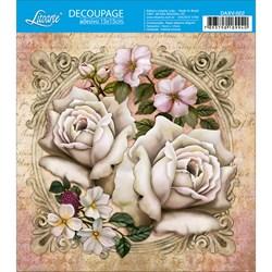 Decoupage Adesivo Litoarte DAXV-022 Arranjo Rosas