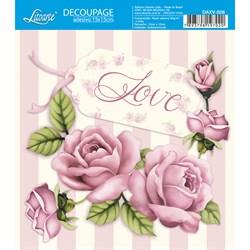 Decoupage Adesivo Litoarte DAXV-028 Love Roses