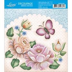 Decoupage Adesivo Litoarte DAXV-031 Rosas