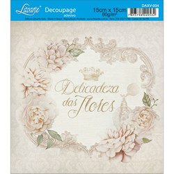 Decoupage Adesivo Litoarte DAXV-034 Rosas Silvestres e Coroa