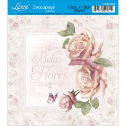 Decoupage Adesivo Litoarte DAXV-035 Rosas Shabby Schic
