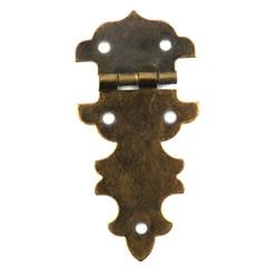 Dobradiça Colonial 28x33mm A28/16-4 Ouro Velho - com 1 unidade