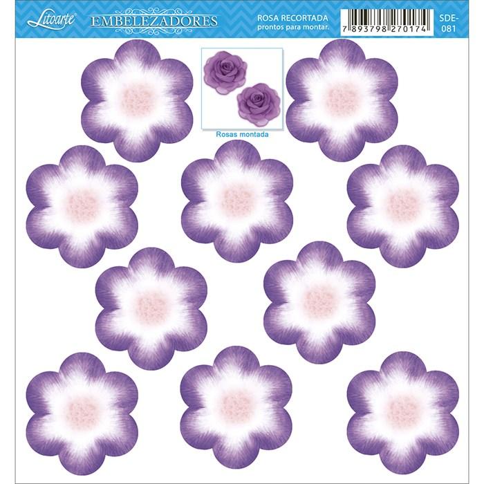Embelezadores - Flores - SDE-081 Flor Recortada Lilás