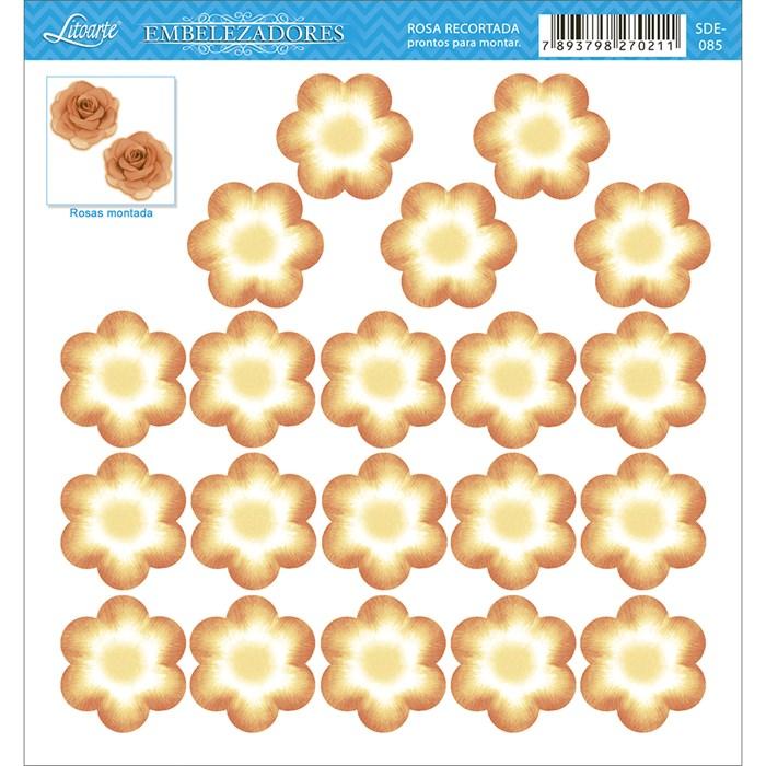 Embelezadores - Flores - SDE-085 Flor Recortada Amarela