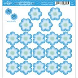 Embelezadores - Flores - SDE-087 Flor Recortada Azul