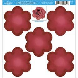 Embelezadores - Rosas - SDE-011- Rosa Recortada Vermelha