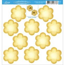 Embelezadores - Rosas - SDE-027 Rosas Recortadas Amarelas