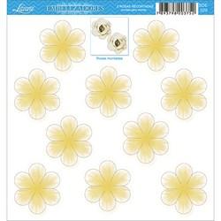 Embelezadores - Rosas - SDE-029 Rosa Recortada Branca/Amarelo