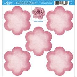 Embelezadores - Tags Recortados - SDE-009 Rosa Recortada Rosa