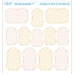 Embelezadores - Tags Recortados - SDE-053 Flores Claras C/ Fundo Claro
