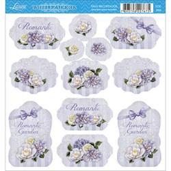 Embelezadores - Tags Recortados - SDE-066 Flores Diversas Fundo Lilás