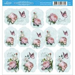Embelezadores - Tags Recortados - SDE-069 Flores Diversas e Borboletas
