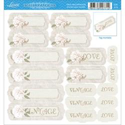 Embelezadores - Tags Recortados - SDE-070 Flores Vintage