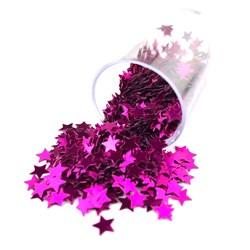 Estrelinhas Metálicas para Slime ES01 Pink - com 1000 unidades
