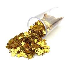 Estrelinhas Metálicas para Slime ES04 Dourada - com 1000 unidades