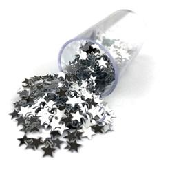Estrelinhas Metálicas para Slime ES06 Prata - com 1000 unidades