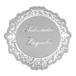 Etiqueta Sabonete Liquido ESL03 Prata em Relevo - com 1 unidade