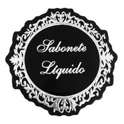 Etiqueta Sabonete Liquido ESL06 Prata - com 1 unidade