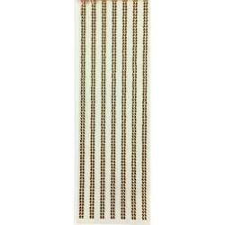 Faixa Adesiva Strass 3mm FS3-15 Dourado