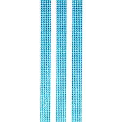 Faixa Adesiva Strass 4mm FS4-16 Azul Turquesa