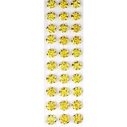 Faixa Pérola Flor Adesiva Metálica 5mm FPAF Dourada