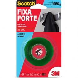 Fita adesiva dupla face Fixa Forte 12mmx2m Scotch 3M