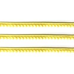 Fita Grelot Pompom Amarelo Bebê 13mm 7875/P - com 2 metros
