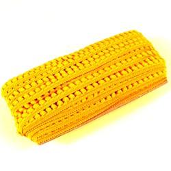 Fita Grelot Pompom Amarelo Ouro 13MM 7875/P - 20 Metros