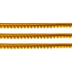 Fita Grelot Pompom Amarelo Ouro 13mm 7875/P - com 2 metros