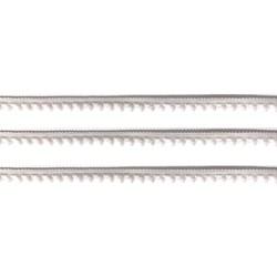 Fita Grelot Pompom Branco 13mm 7875/P - com 2 metros