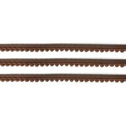 Fita Grelot Pompom Marrom 13mm 7875/P - com 2 metros