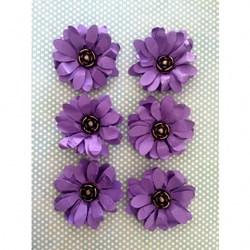 Flor de Papel Artesanal FMG-011 Roxa - com 6 unidades
