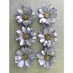 Flor de Papel Artesanal FMG-07 Azul Claro - com 6 unidades
