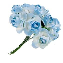Flor de Papel P Azul Claro RSP-009 - 12 unidades