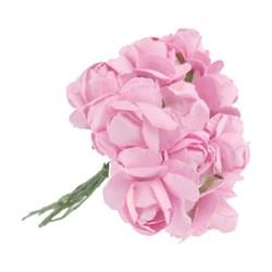 Flor de Papel P Rosa Claro RSP-005 - 12 unidades