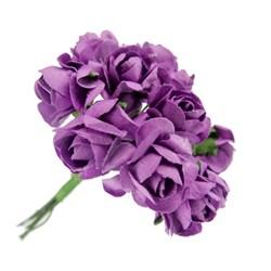 Flor de Papel P Roxa RSP-011 - 12 unidades